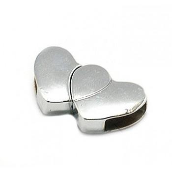 Hjerte lås magnet platineret 29 mm