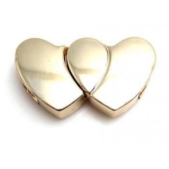 Hjerte lås magnet guld 29 mm