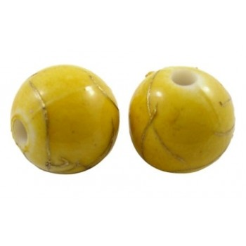 Guld streg og gul 10 mm - 10 STK