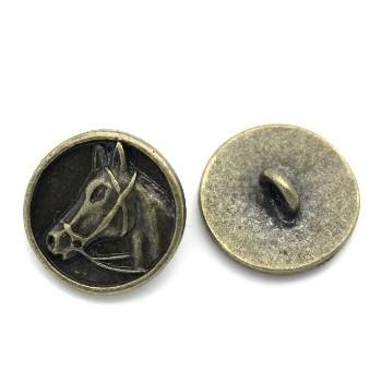 Heste knap Bronze  15 mm