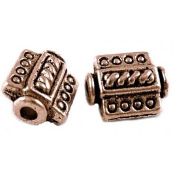Kobber perle 9 / 2 mm - 8 stk