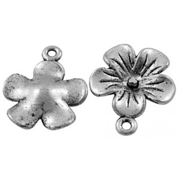 Blomst vedhæng sølv 24 mm /...
