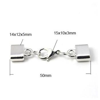 Låsesæt med enderør sølv indvendigt hul 10 x 2,8