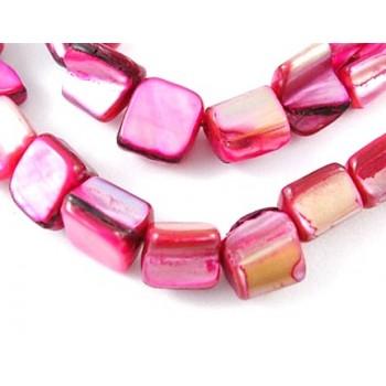 Musling perle pink / Lilla 10 mm - 20 stk