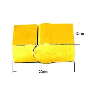 Slide lås med magnet guld 20 mm / 4,5 x 9