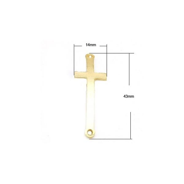 Forbindelses kors guld - 43 mm