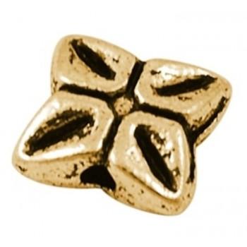 Perle tibet guld 7,5 / 1 mm...