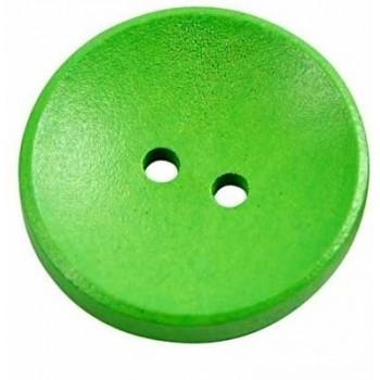 Neon grøn knap - 26 mm