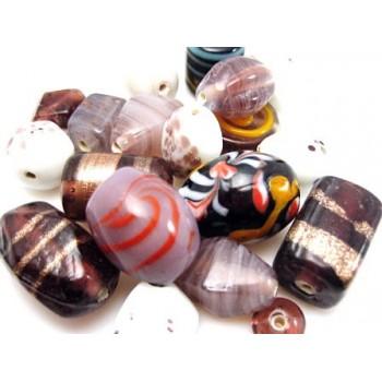 Luksus perle mix - lilla /...