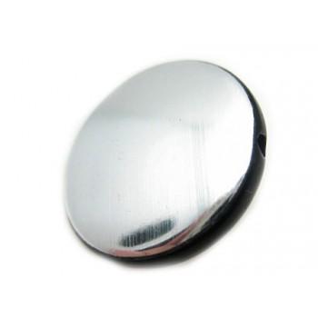 Sølv og sort rund 21 mm - 4...