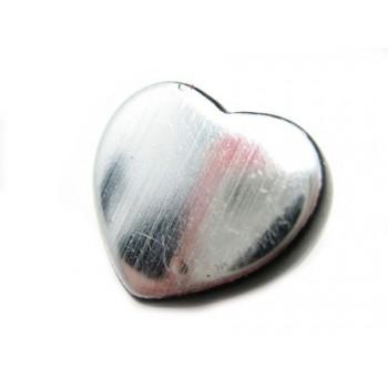Sølv og sort hjerte 14 mm -...
