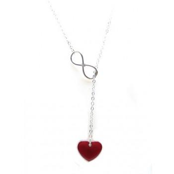 Valentins halskæde med hjerte og uendeligheds tegn