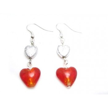 Valentins øreringe med hjerter