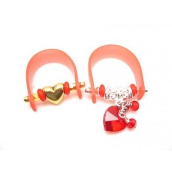 Fingerring valentins med stav  - flere forslag