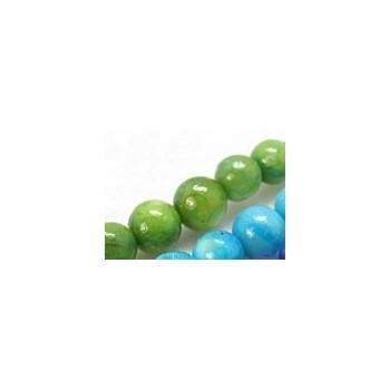 Shell perle 6,5 Grøn - 1 streng
