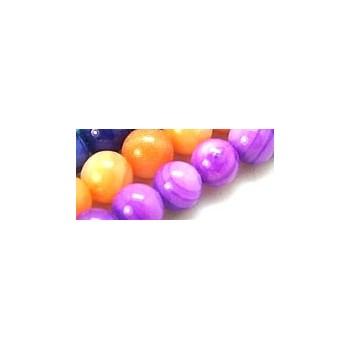 Shell perle 6,5 Lilla - 1 streng