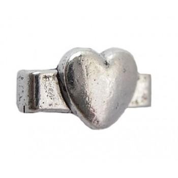 Hjerte med 2 huller 11 mm - 8 stk