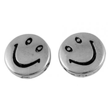 Smiley perle sølv 10 / 1 mm...