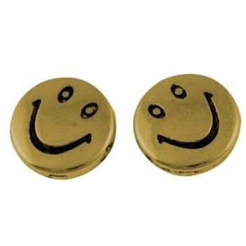 Smiley perle guld 10 / 1 mm...