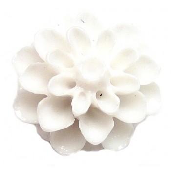 Resin blomst 15 mm HVID - 2 stk