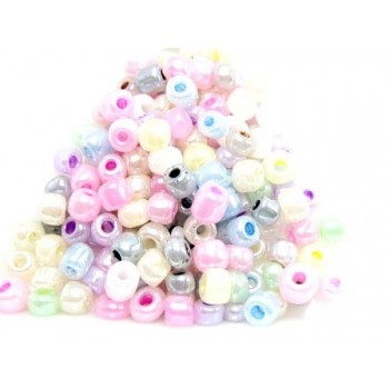 Seed bead mix pastel perlemor 4 / - 1,5 mm 25 g