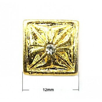 Guld perle med rille - 12...