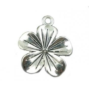 Blomst vedhæng sølv 23 mm / 2