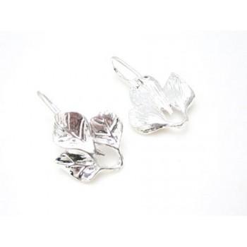 Øreringe med blade sterlings sølv belagt