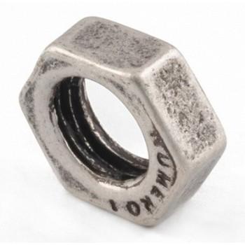 Stor møtrik sølv  16 / 9 mm...