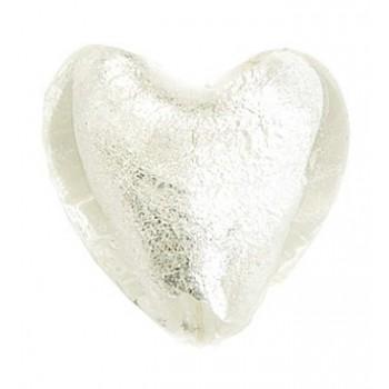 Glas hjerte folierede hvide...