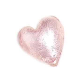 Glas hjerte folierede rosa...