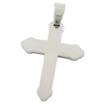 Stål kors blankt 42 mm