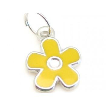 Blomst med gul emalje