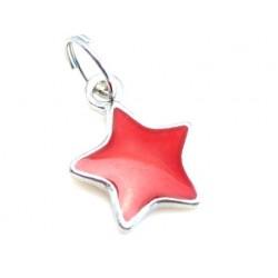 Stjerne med rød emalje