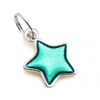 Stjerne med grøn emalje