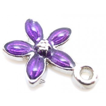 Lilla blomster vedhæng 14mm