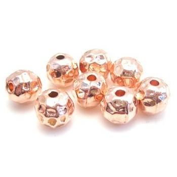 Rosenguld perler 8 / 2 mm -...