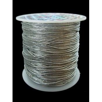 Knytte / smykke elastik 1mm sølv - 5m - SUPER TILBUD