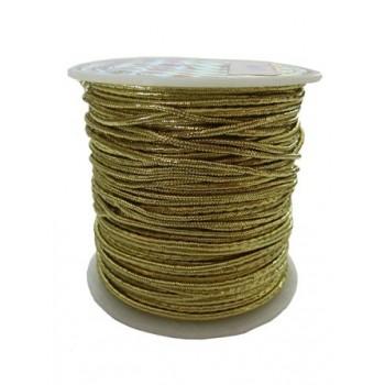 Knytte / smykke elastik guld 1mm - 6 m SUPER BILLIGT