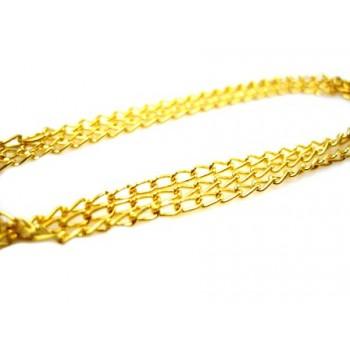 Guld plate kæde 46 cm