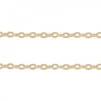 Rosenguld kæde 3x2 mm - pr løbende m