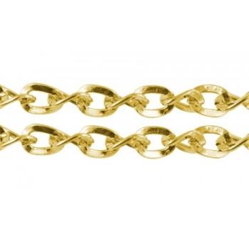 Kæde Guld 5 mm- pr 1 m løbende
