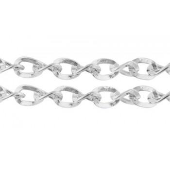 Kæde Sølv 5 mm- pr 1 m løbende
