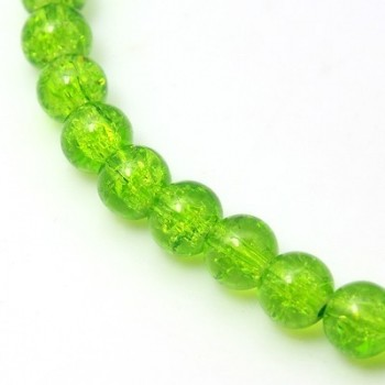 Krakeleret perle 8 mm Lime...