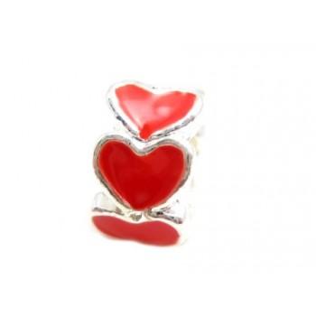 Hjerte led med røde emalje...