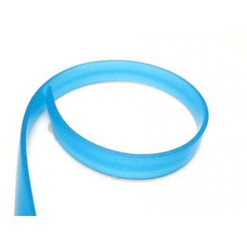 Flad gummi snøre blå 8x2 mm 1 m