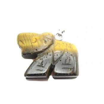 Elefant halv ædelsten 23 mm...