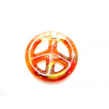 Glas peace tegn orange /...