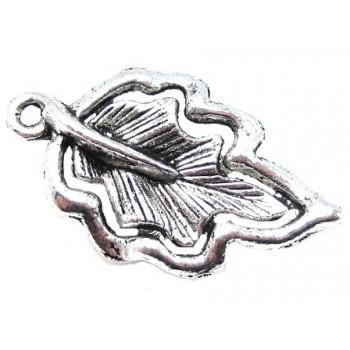 Blad i tibet sølv med...