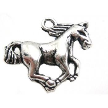 Hest i tibet sølv 22 mm